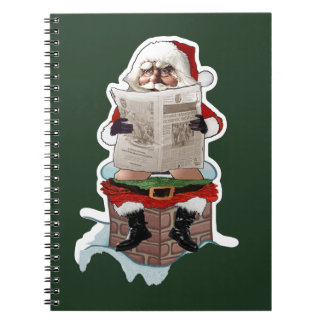 "Santa Claus ""Party Pooper"" Christmas Notebook"
