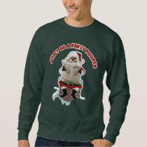 "Santa Claus ""Party Pooper"" Funny Christmas Sweatshirt"