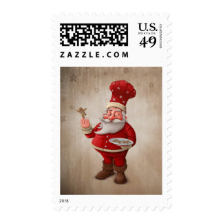 Santa Claus pastry cook Stamps