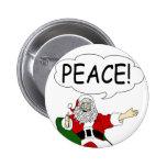 Santa Claus Peace Button