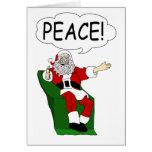 Santa Claus: Peace Greeting Card