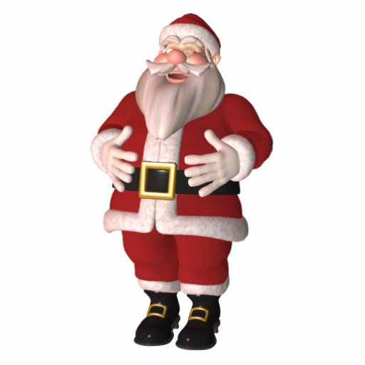 Santa Claus Photo Sculpture Ornament