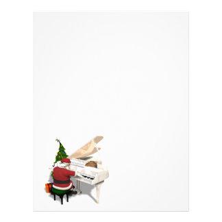 Santa Claus Pianist Letterhead