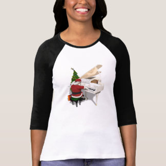 Santa Claus Pianist T-Shirt