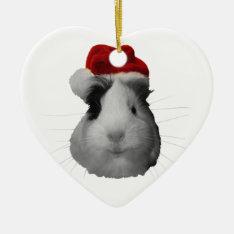 Santa Claus Pig Guinea Pig Christmas Holidays Ceramic Ornament at Zazzle