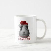 Santa Claus Pig Guinea Pig Christmas Holidays Coffee Mug