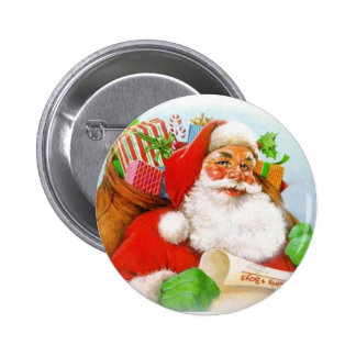 Santa Claus Pinback Button