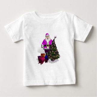 Santa Claus Pink Ribbons Baby T-Shirt