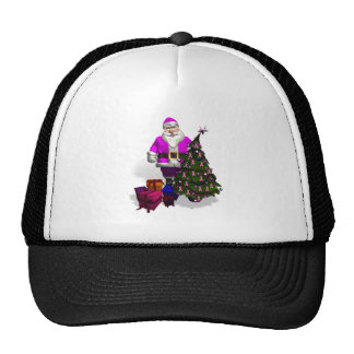 Santa Claus Pink Ribbons Trucker Hat