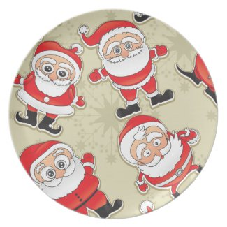 Santa Claus Party Plates