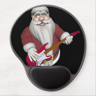 Santa Claus Playing Electric Guitar Gel Mouse Pad