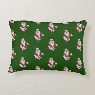 Santa Claus Playing Electric Guitar Accent Pillow