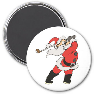 Santa Claus playing golf Magnet