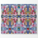 SANTA CLAUS PLAYING HARP IN MOONLIGHT Abstract Wrapping Paper