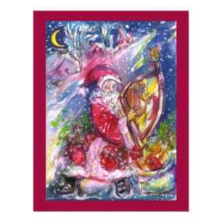SANTA CLAUS PLAYING HARP IN THE MOONLIGHT FLYER