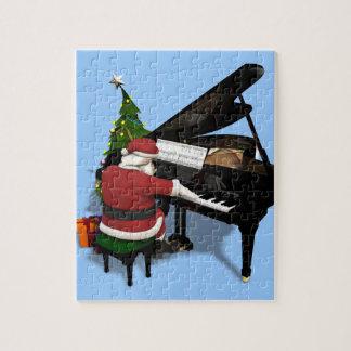 Santa Claus Playing Piano Jigsaw Puzzle