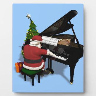Santa Claus Playing Piano Plaque
