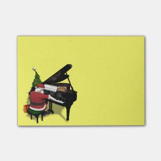 Santa Claus Playing Piano Post-it Notes