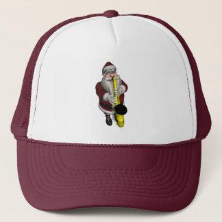 Santa Claus Playing Saxophone Trucker Hat
