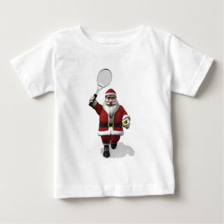 Santa Claus Playing Tennis Baby T-Shirt