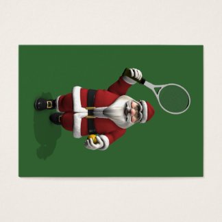 Santa Claus Playing Tennis Business Card