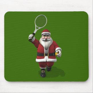 Santa Claus Playing Tennis Mouse Pad
