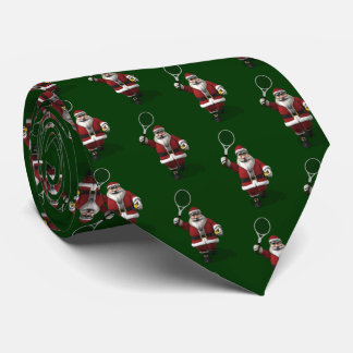 Santa Claus Playing Tennis Neck Tie