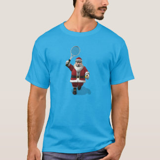 Santa Claus Playing Tennis T-Shirt