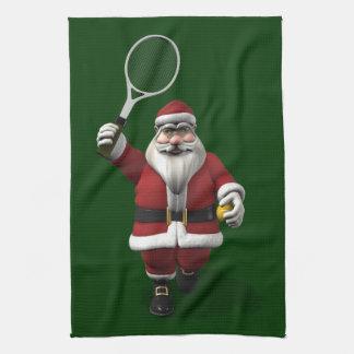 Santa Claus Playing Tennis Towel