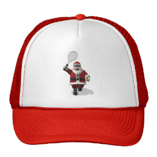 Santa Claus Playing Tennis Trucker Hat