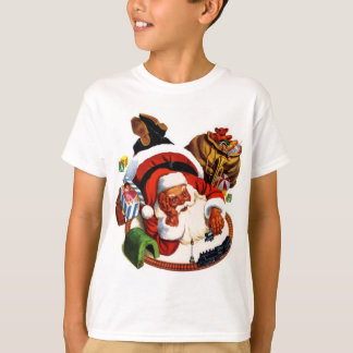 Santa Claus Playing With Trains T-Shirt
