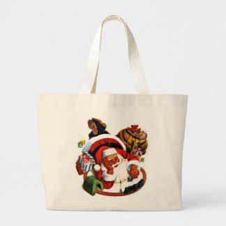 Santa Claus Playing With Trains Tote Bag