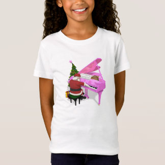 Santa Claus Plays Pink Piano T-Shirt