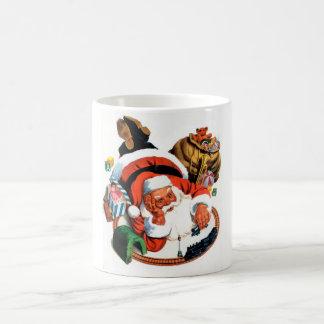 Santa Claus Plays with a Toy Train Coffee Mug
