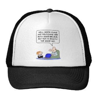 santa claus politicians make believe trucker hat