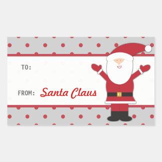 Santa Claus Polka Dots Sticker