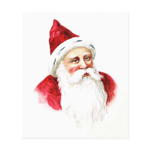 Santa Claus Portrait Canvas Print