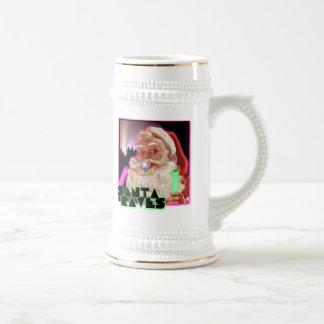 Santa Claus Raves - Funny Santa Raver Coffee Mug