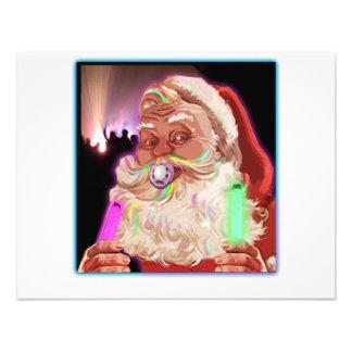 Santa Claus Raves  Funny Santa Raver-  No Text - Custom Invitation