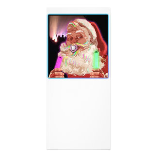 Santa Claus Raves  Funny Santa Raver-  No Text - Custom Rack Card