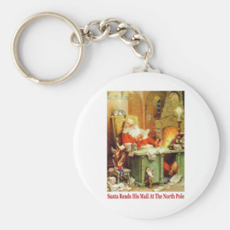Santa Claus Read His Mail and Makes His List Key Chains