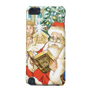 Santa Claus Reading the Bible on Christmas Eve iPod Touch 5G Covers