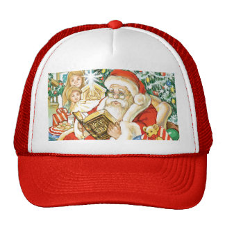 Santa Claus Reading the Bible on Christmas Eve Trucker Hat