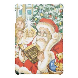 Santa Claus Reading the Bible on Christmas Eve iPad Mini Cover