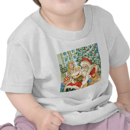 Santa Claus Reading the Bible on Christmas Eve Shirts