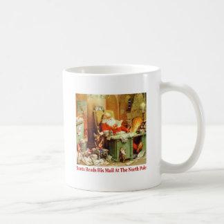 Santa Claus Reads His Mail at the North Pole Mug