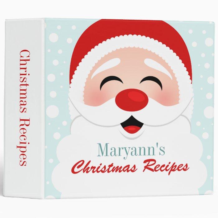 Santa Claus Recipe Binder
