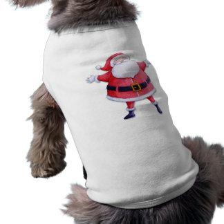 Santa Claus red Dog T-shirt