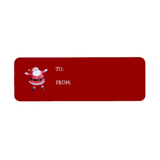 Santa Claus red Gift Tag Label