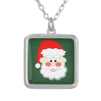 santa claus red green cartoon pendants